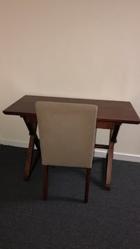 brown wooden desk with chair!!