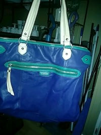 blue and green leather tote bag Fayetteville, 37334