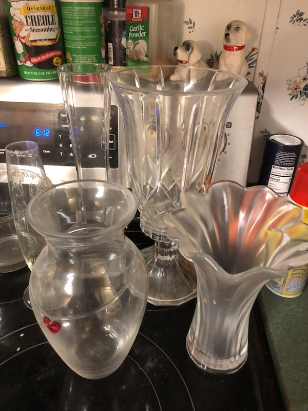 Glass vases and dishes