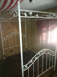 Antique Wrought Iron Canopy Bed Walker, 70785