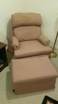 brown leather padded sofa chair Montclair, 22025