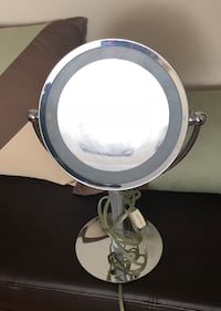 Magnifying mirror with backlight