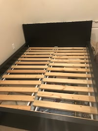 brown and black wooden bed frame Ripon, 95366