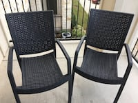 Two outside plastic chairs Austin, 78735