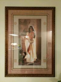 topless woman portrait painting and brown frame Edmonton, T6H 5Y6