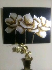Magnolia brown and white floral wall decor Moss Point