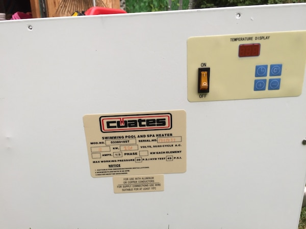 Coates 11KW pool heater 0