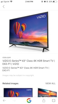 Black 43in Vizio flat screen tv Palm Desert, 92260