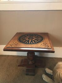 Nautical compass end-table Webster, 14580