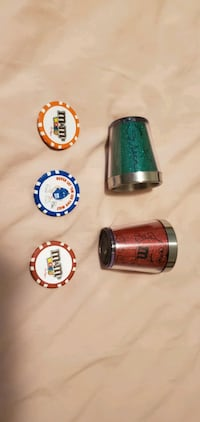 M&M Shot Glasses & Poker Chips from Las Vegas NV Nashville, 37076