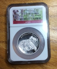 2012 Silver High Relief Proof Coin Martinez, 94553