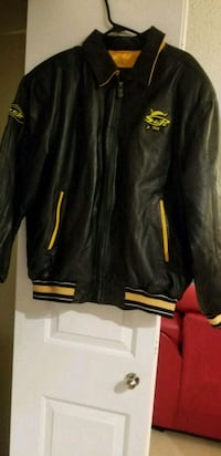 Black and yellow leather jacket  Edmonton, T5Y 0K8