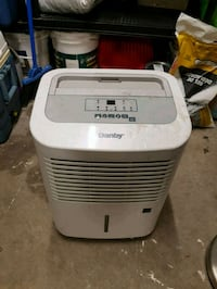 white and gray portable Dehumidifier unit Toronto, M3H 5P8