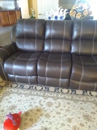 Real genuine Italian leather recliner sofa loveseat and chair  Gaithersburg, 20879