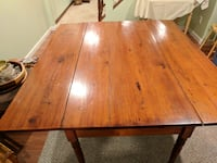 Turn of the century farm house drop leaf table SILVERSPRING
