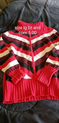 red and black striped polo shirt Osakis, 56360