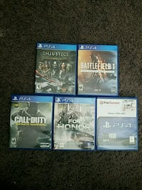 Four PS4 games used. New Port Richey, 34655
