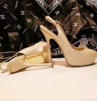 YSL Slingback new tips 38/8 Burnaby, V5A 4A5