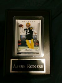 Aaron Rodgers card with plaque