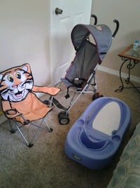Baby Stroller, Chair and Infant Tub