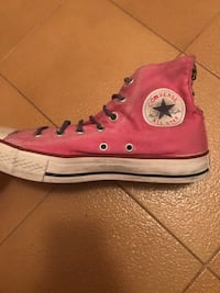 High-Top Converse All-Star rosa e bianco
