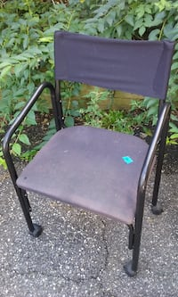 Black Rolling Director's Chair Denville