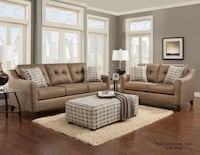 brown 3-seat couch and loveseat set Houston, 77095