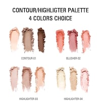 4 Colors Highlighter Palette Makeup Face Contour