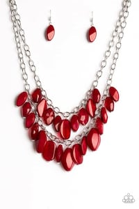 silver and red beaded necklace Gaithersburg, 20877