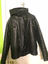 Urban Republic Faux Leather Hooded Jacket - Small Montgomery Village, 20886