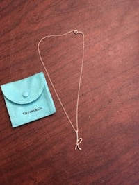 Tiffany  and co. K necklace