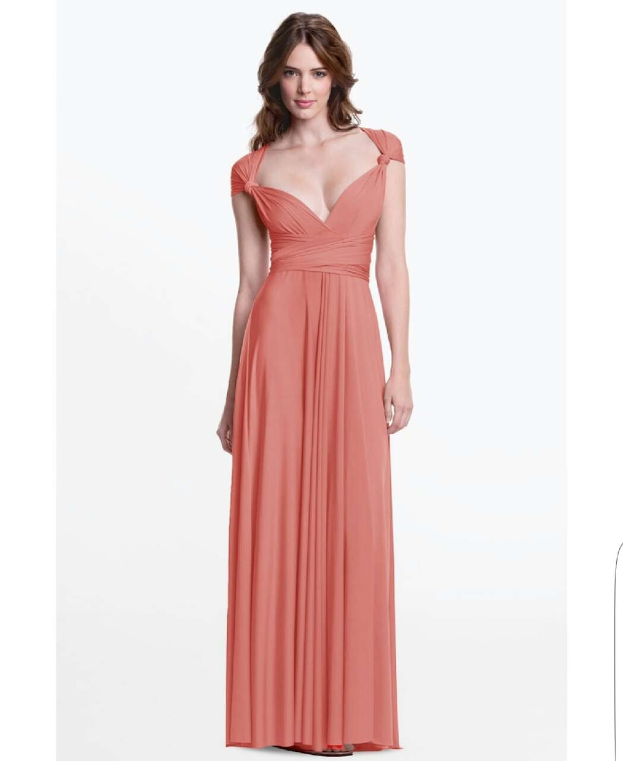 Used Like new! HENKAA Formal maxi dress in coral in Montreal - letgo