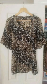 women's brown and black leopard print dress Adelphi, 20783