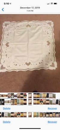Table Cover Washable No Iron Needed  Never Used