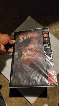 Superman comic book collectable with certificate