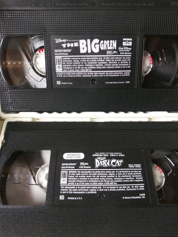 That Darn Cat and The Big Green vhs tapes 693b74e0-adec-4cdb-b476-007eb1bd3b0d