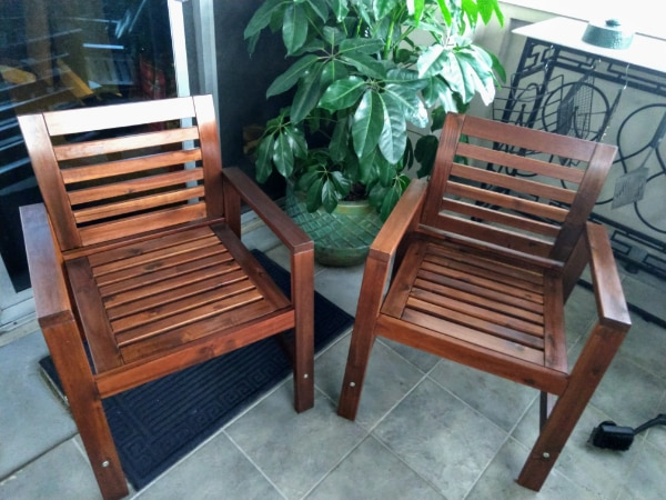 $50 each. 2 Brand New Outdoor Dining Chairs 7bba6100-83ff-4042-95a8-f3c4471ea9fe