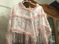 Very elegant Girl's poncho with rose fur Markham, L3T 4Y5