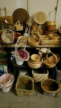 Wicker baskets and decorator items