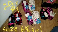 Girls size 6/8 fuzzy indoor socks new Theodore, 36582