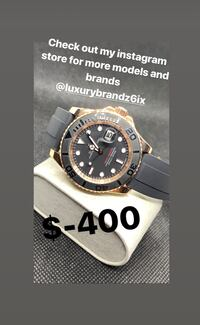 R/.E/.P/.L/.ica Rolex yacht master with rubber bracelet automatic watch analog watch men's watch  Toronto, M2L 1N2