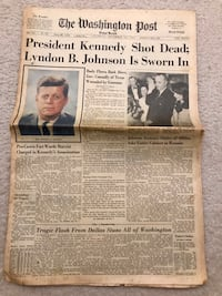 Washington Post Newspaper November 23 1963 Kennedy Assassasination Gaithersburg, 20878