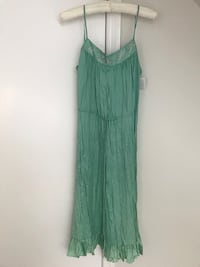 green spaghetti strap mini dress Washington, 20015