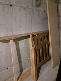 brown wood twin bed frame.good condition.  Toronto, M5A 3X2