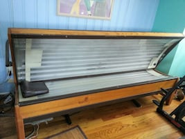 brown tanning bed