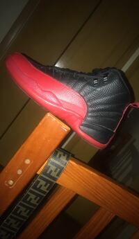 unpaired black and red Air Jordan 12 shoe Maple Heights, 44137