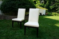 White dining chairs Morristown, 07960