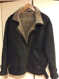 New York style men's original shearling leather jacket ( M) , Nearly new excellent condition  Derwood, 20855