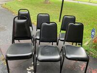 6 black chairs set Boca Raton, 33487