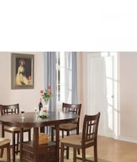 Warm Brown Counter height 5-piece Dining Set